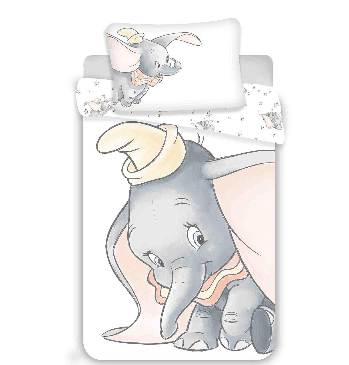 Disney povlečení do postýlky Dumbo grey Jerry Fabrics