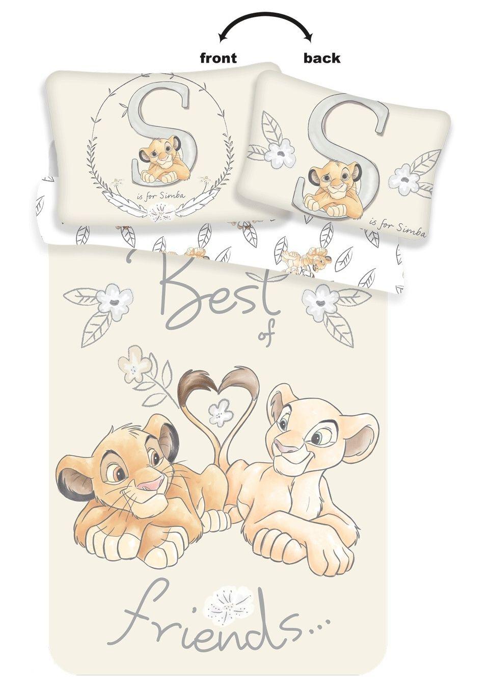Disney povlečení do postýlky Lví Král Best Friends baby Jerry Fabrics