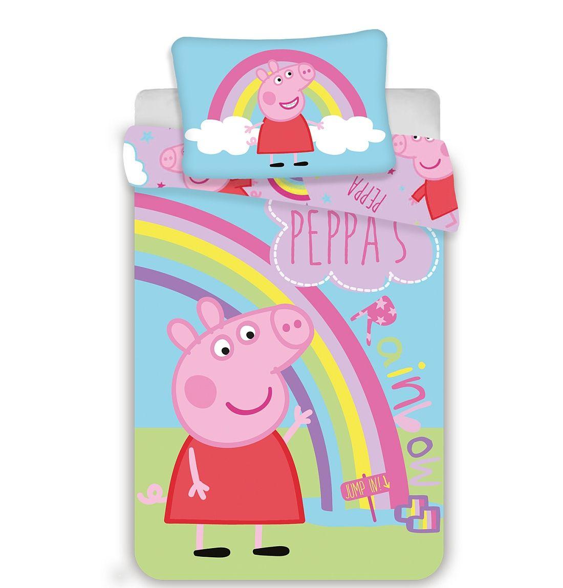 Disney povlečení do postýlky Peppa Pig 016 baby Jerry Fabrics