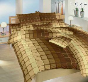 S geometrickým motivem kvalitní bavlněné ložní povlečení Čokoláda hnědá, Dadka