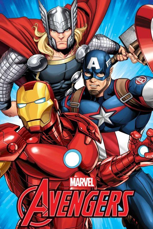 Dětská fleecová deka se známým motivem hrdinů Avengers, Jerry Fabrics