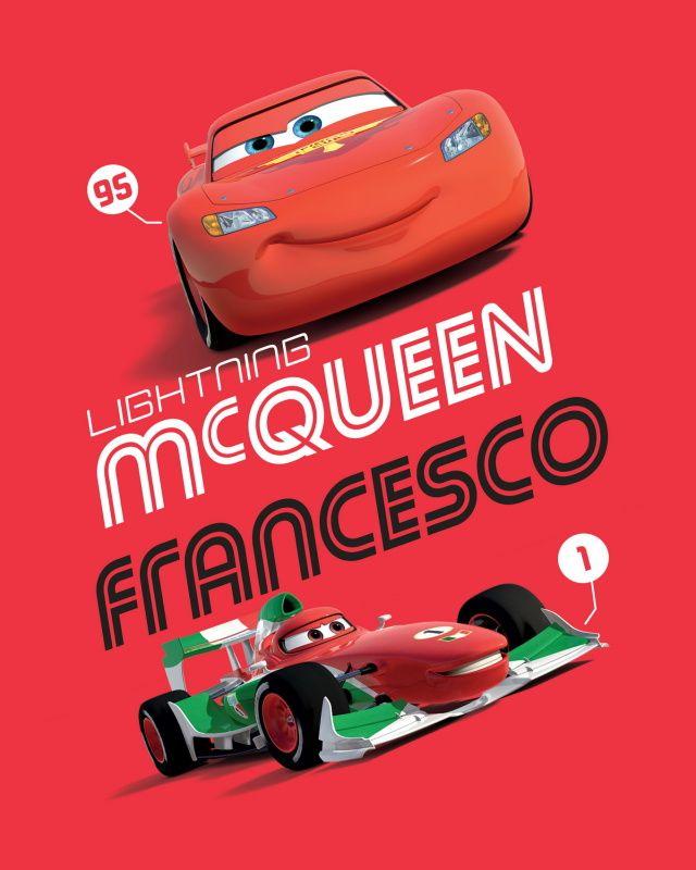 Do červené barvy laděna dětská fleecová deka s motivem aut Cars 2014, Jerry Fabrics
