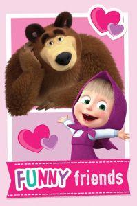 Dětská fleecová deka Máša a medvěd Friends