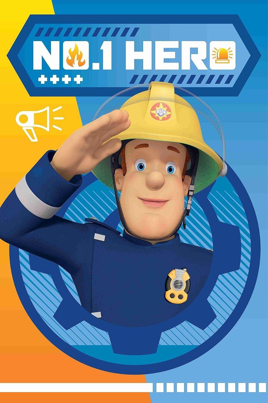 Pro malé děti kvalitní a hřejivá fleecová deka Požárník Sam HERO 028, Jerry Fabrics