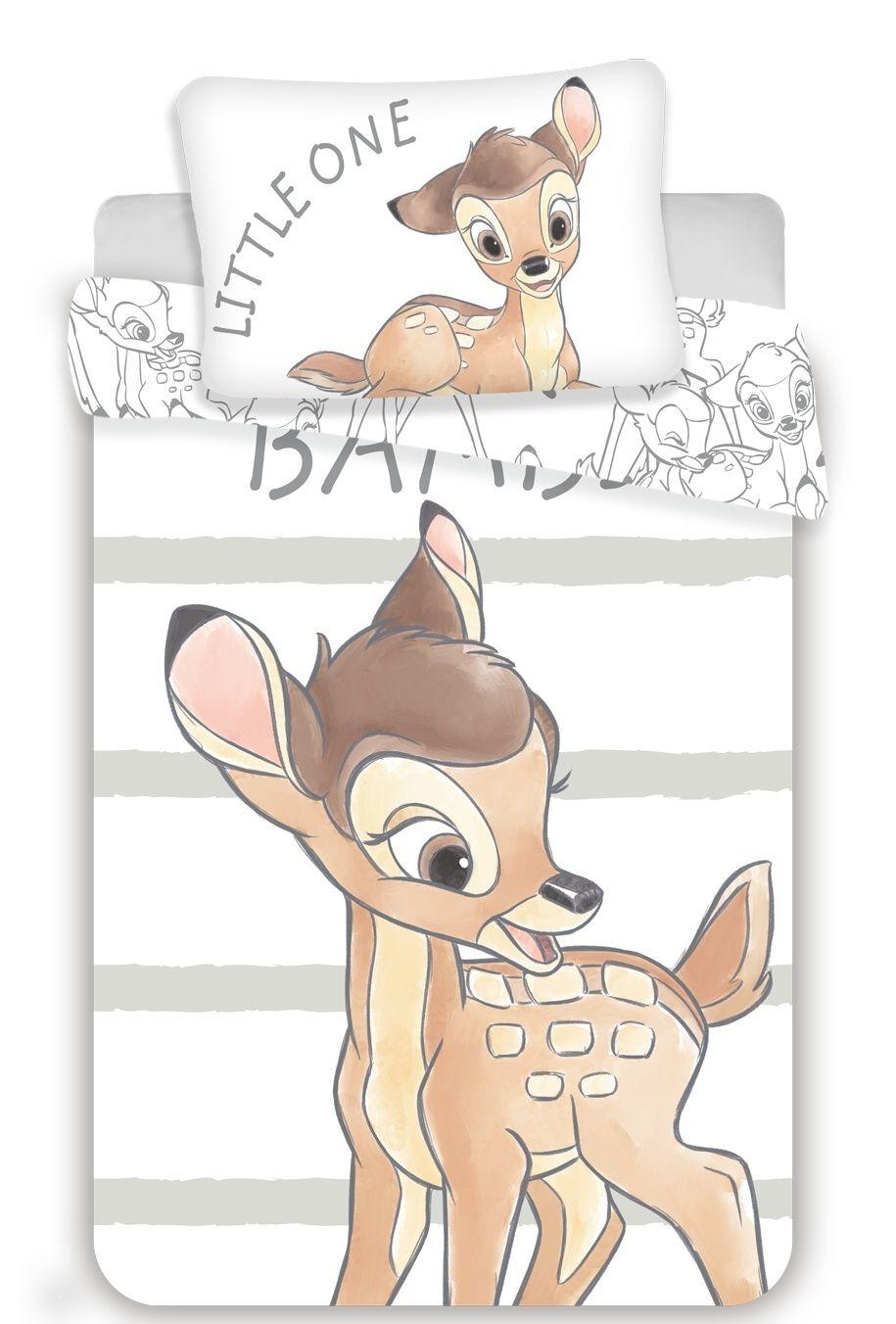 Disney povlečení do postýlky Bambi stripe baby Jerry Fabrics