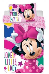 Bavlněné povlečení do postýlky Minnie baby Disney