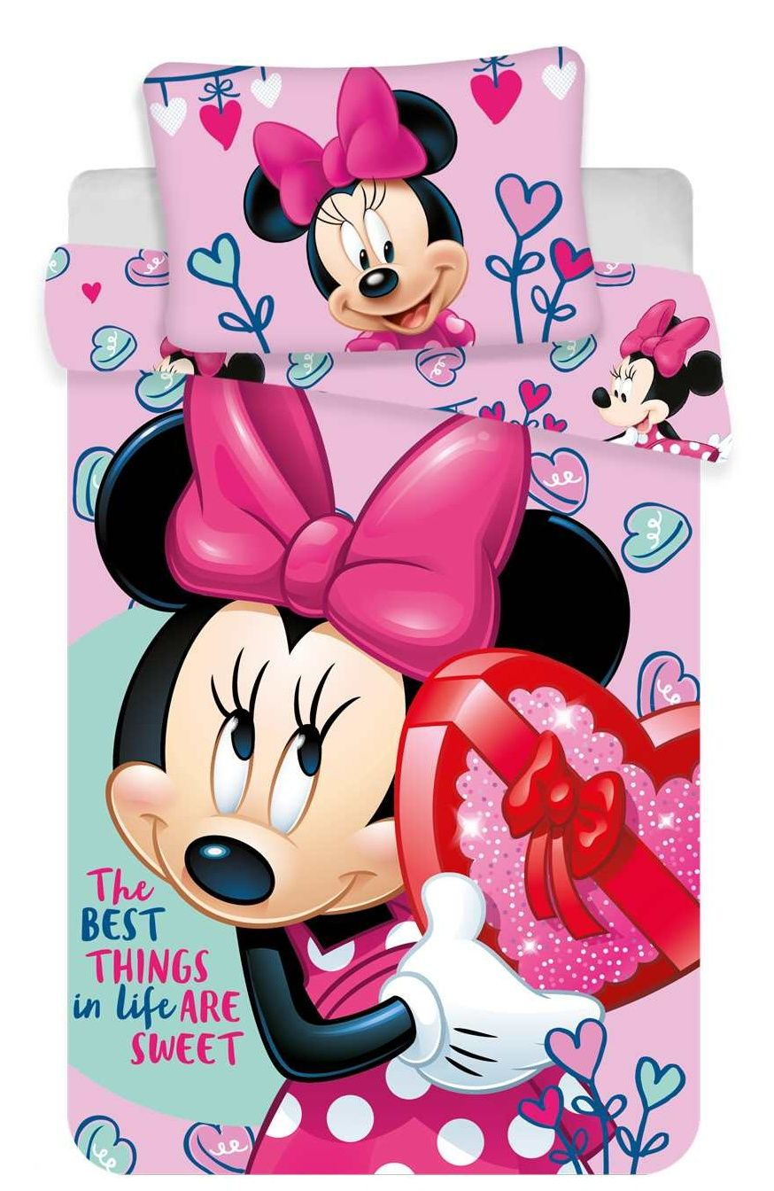 S motivem myšky kvalitní dětské bavlněné ložní povlečení do postýlky Disney Minnie pink baby, Jerry Fabrics