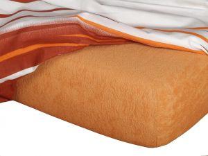 Froté prostěradlo - karamel