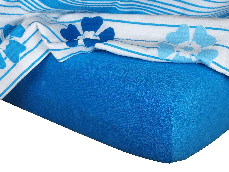 Kvalitní napínací froté prostěradlo českého výrobce modř královská barvy, Dadka