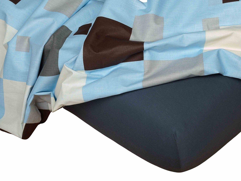 Kvalitní napínací jersey prostěradlo českého výrobce barvy tmavě šedé, Dadka