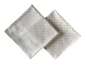 Krepový ručník béžový hladký