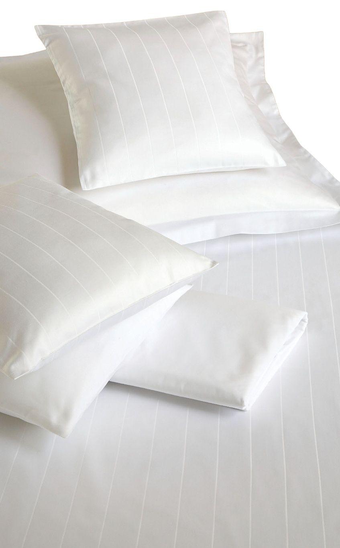 Od českého výrobce luxusní povlečení atlas grádl bílý pruh Polycotton, Dadka