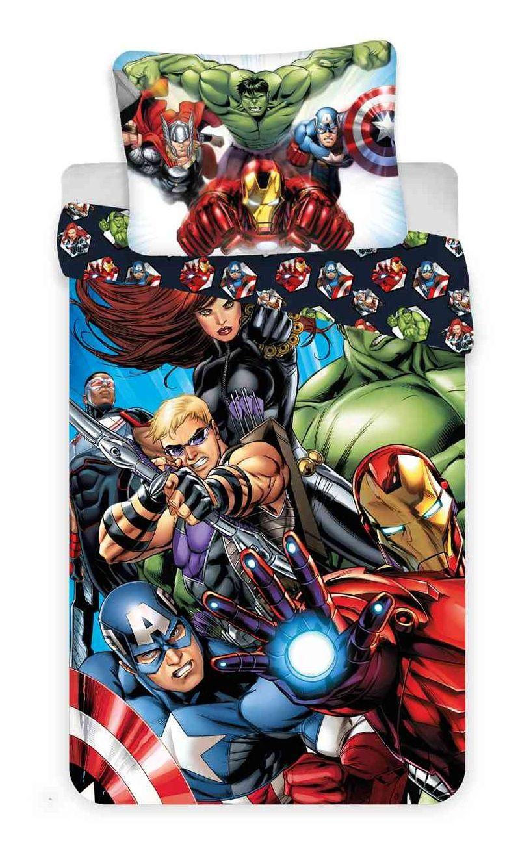 Oboustranné dětské bavlněné ložní povlečení Avengers 03, Jerry Fabrics