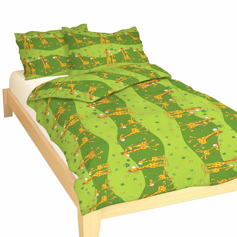 Dětské kvalitní bavlněné ložní povlečení do postýlky Žirafa zelená, Dadka