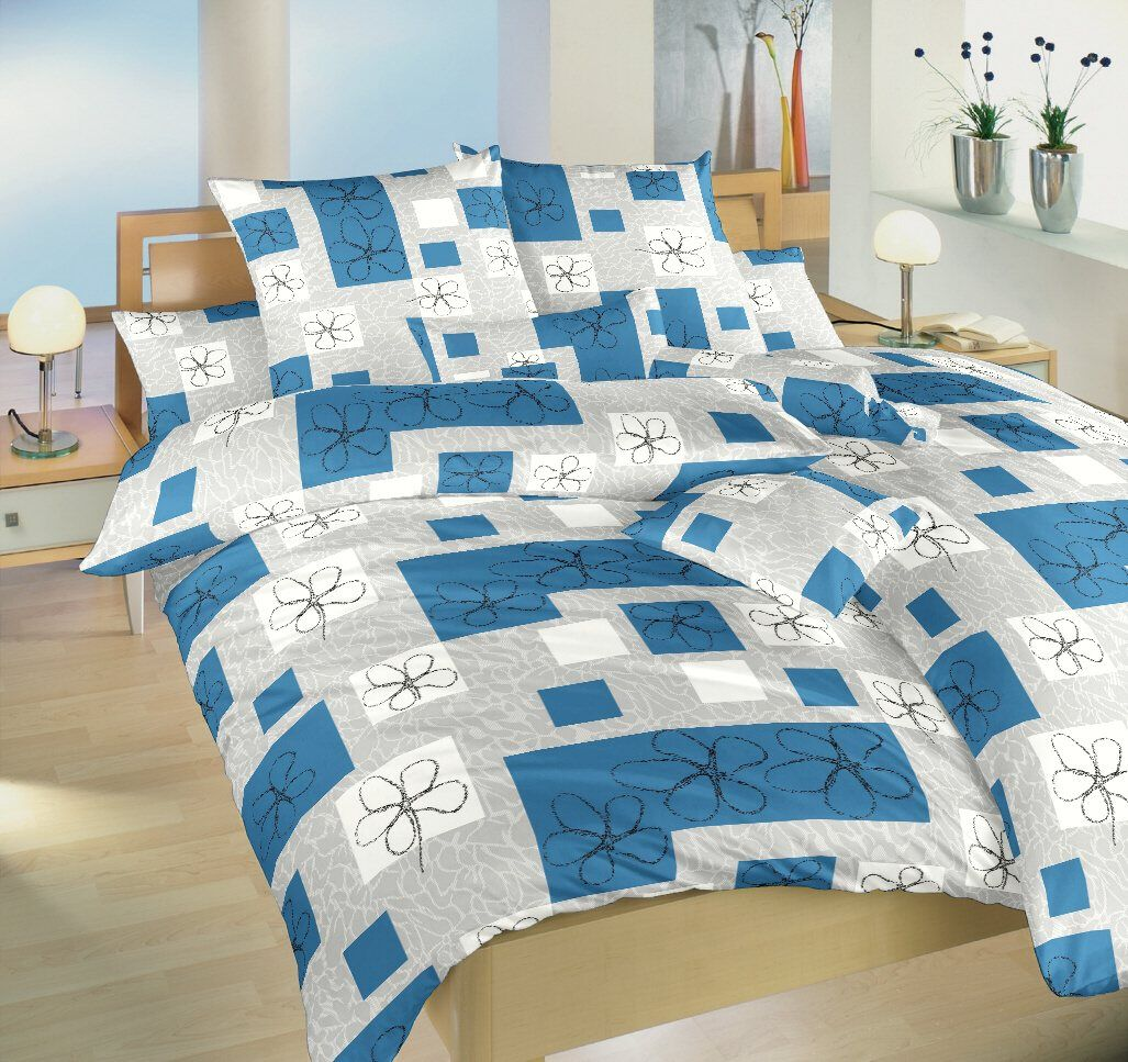Bavlněné povlečení v kombinaci modré a šedé barvy Gobelín modrý, Dadka