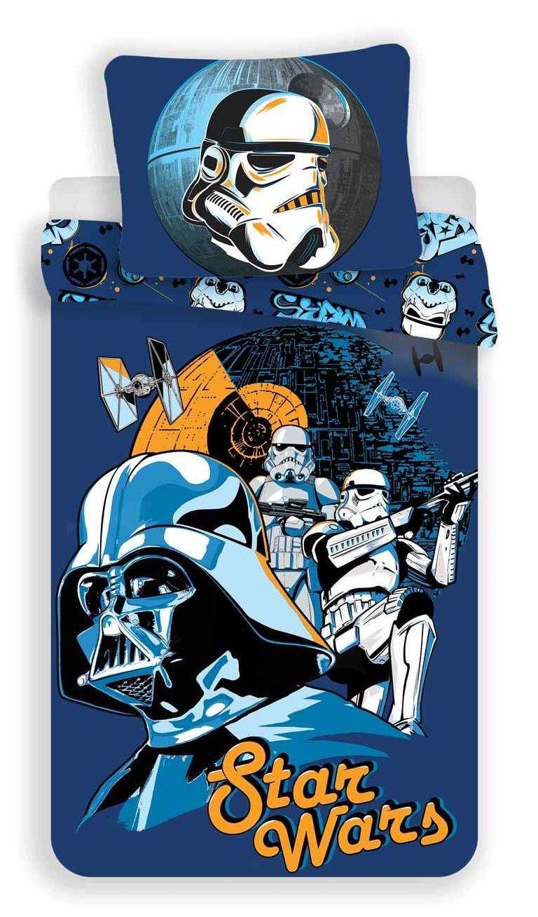 Do modré barvy laděno dětské bavlněné ložní povlečení Star Wars blue, Jerry Fabrics