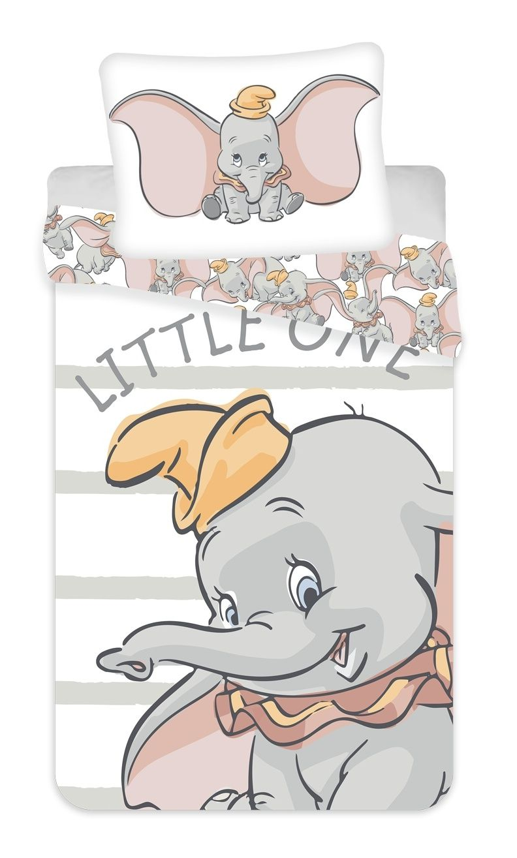 Povlečení Dumbo grey stripe Jerry Fabrics