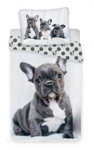 Bavlněné povlečení fototisk Bulldog