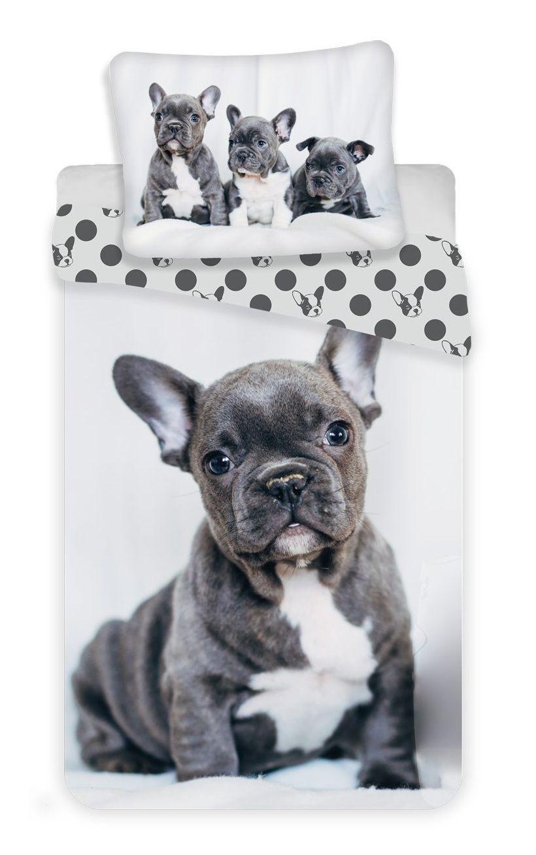 Oboustranné kvalitní bavlněné ložní povlečení fototisk Bulldog, Jerry Fabrics