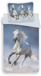 Povlečení fototisk Horses white | 140x200, 70x90 cm