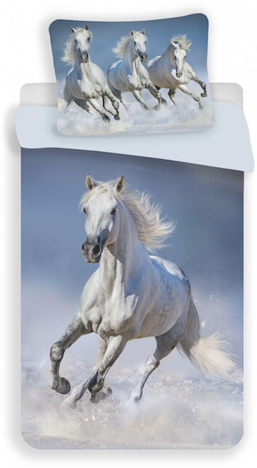 Povlečení fototisk Horses white Jerry Fabrics