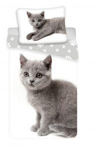 Povlečení fototisk Kočka grey 02