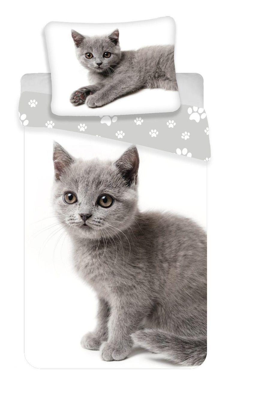 Povlečení fototisk Kočka grey 02 Jerry Fabrics