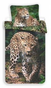 Povlečení fototisk Leopard green