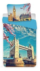Bavlněné povlečení fototisk London blue