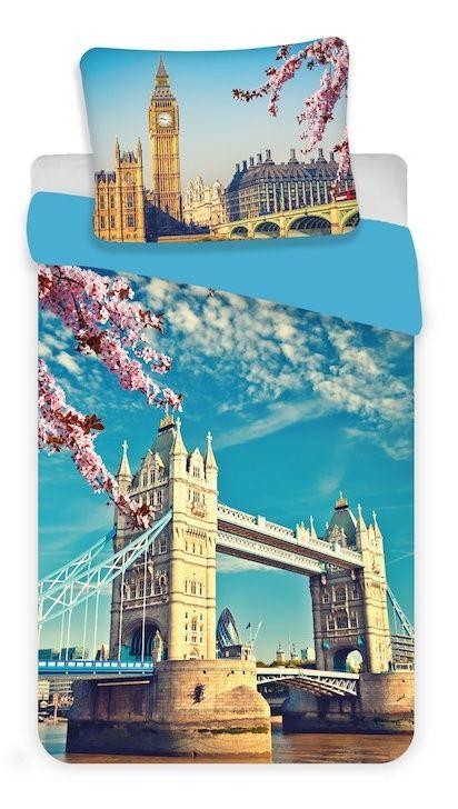 Kvalitní bavlněné ložní povlečení fototisk London blue, Jerry Fabrics