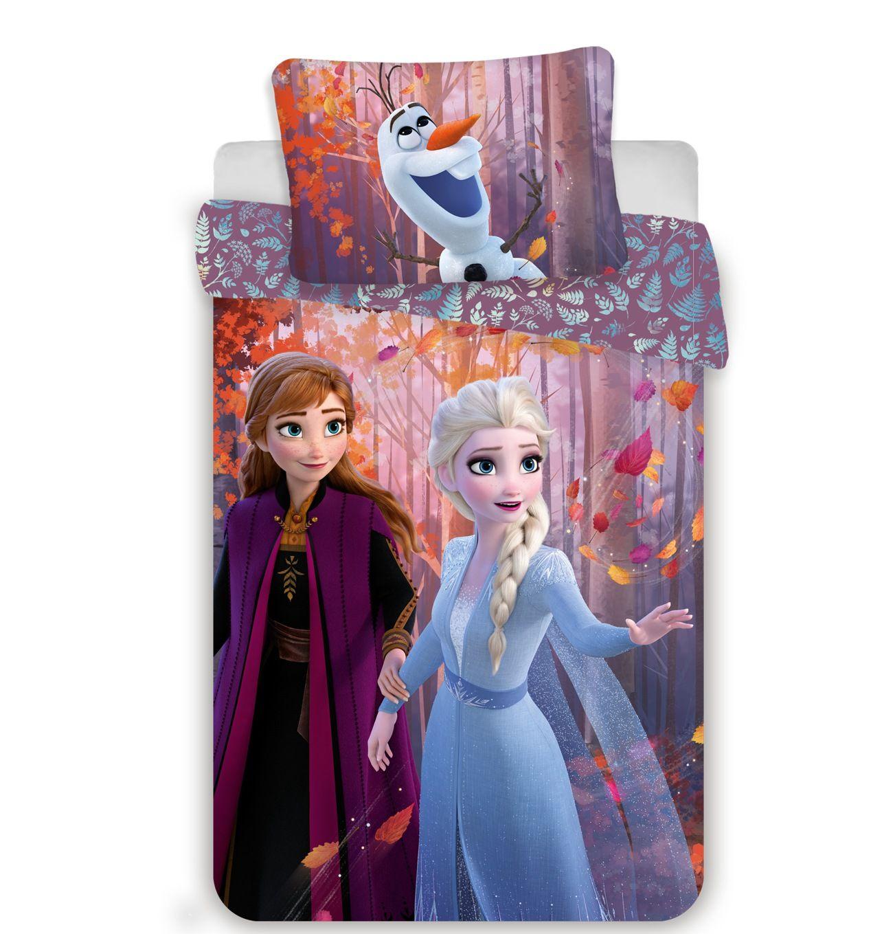 Povlečení Frozen 2 sister purple Jerry Fabrics