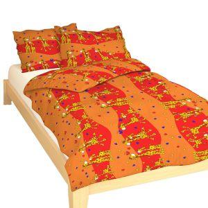 Kvalitní dětské ložní povlečení krepové do postýlky Žirafa červená, | 90x130, 45x60 cm