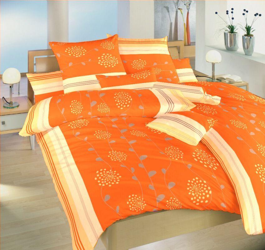 S květinovým motivem pěkné krepové povlečení Liána oranžová, Dadka