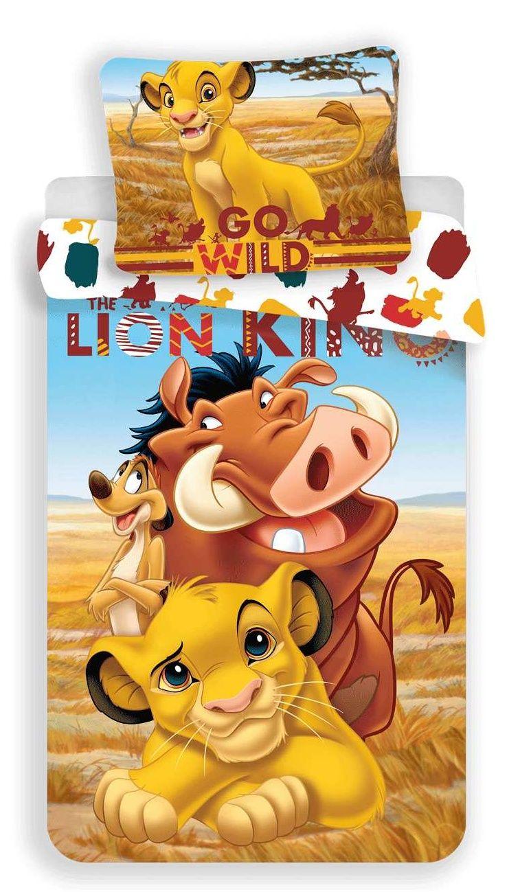 Dětské bavlněné ložní povlečení Lví Král, Jerry Fabrics
