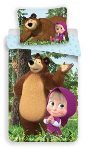 Bavlněné povlečení Máša a Medvěd Forest