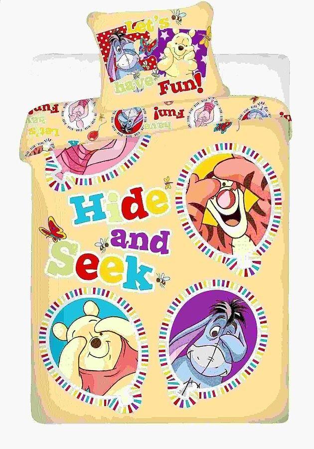 Na velkou postel dětské bavlněné povlečení Disney - Medvídek Pů balloon Jerry Fabrics