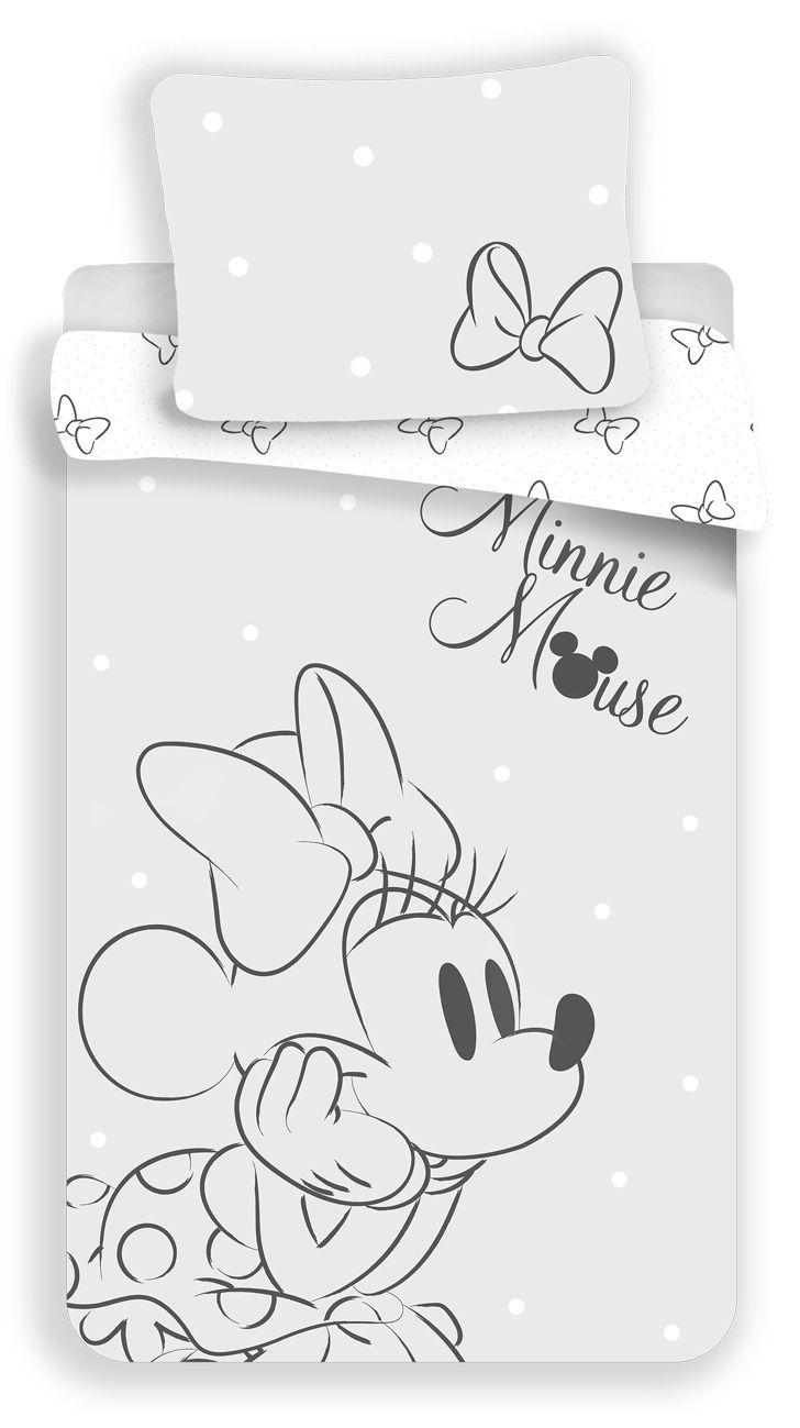 Povlečení Minnie Bows Grey Jerry Fabrics