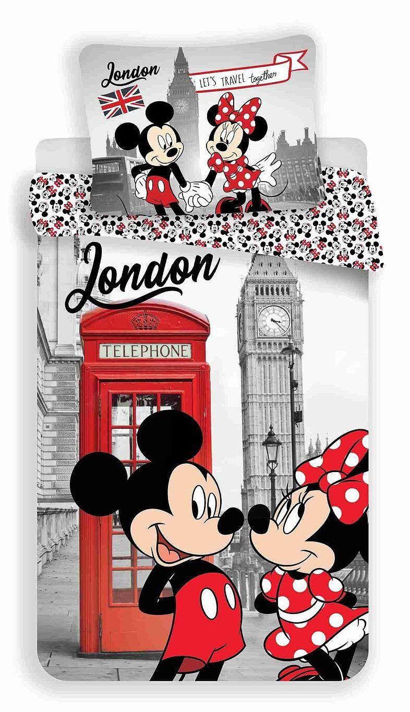 Kvalitní oboustranné dětské bavlněné ložní povlečení MM in London Telephone, Jerry Fabrics