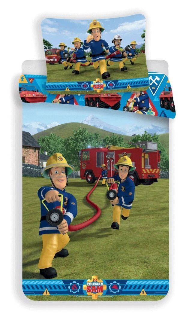 Dětské bavlněné ložní povlečení s motivem hasiče Požárník Sam 007, Jerry Fabrics
