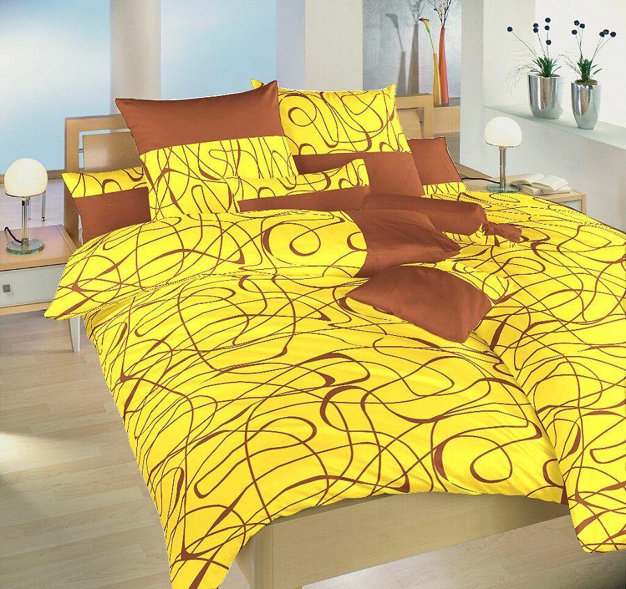 V kombinaci barev žluté a nugátu saténové ložní povlečení Balerína žlutá, Dadka