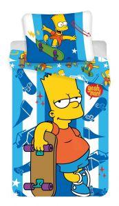 Bavlněné povlečení Simpsons Bart skater