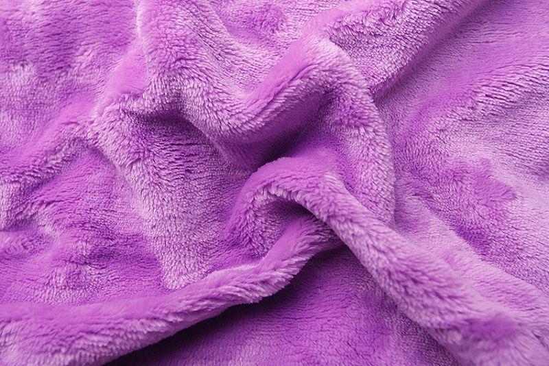 Kvalitní a hřejivé prostěradlo z mikroflanelu v barvě fialové (lila), Svitap