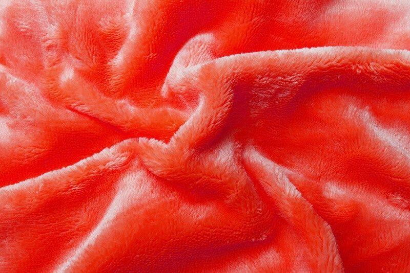 Prostěradlo mikroflanel - oranžová (červený grep) Svitap