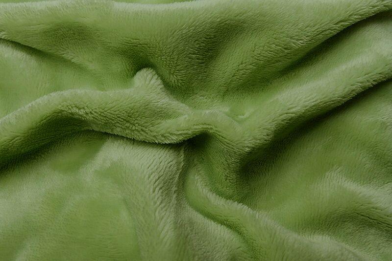 Napínací jednobarevné mikroflanelové prostěradlo v barvě zelené (kiwi), Svitap