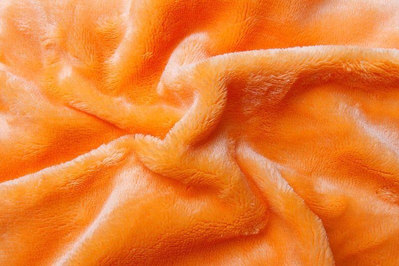 Kvalitní prostěradlo z mikroflanelu v barvě svítivě oranžové, Svitap