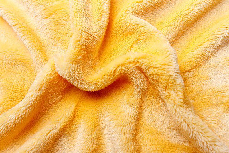 Jednobarevné prostěradlo mikroflanel - žluté, Svitap