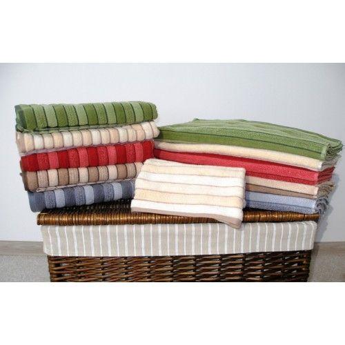 Bavlněný ručník a osuška Paris s pruhy a vysokou gramáží 500g / m2, Praktik