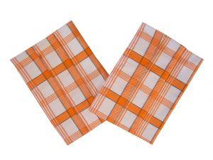Utěrka Ba Extra savá 50x70 Káro oranžové 3 ks