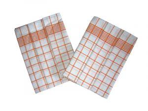 Utěrka Negativ Egypt.bavlna 50x70 - bílá/oranžová - 3 ks