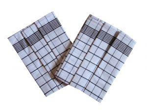 Utěrka Negativ Egyptská bavlna bílá/tmavě hnědá - 3 ks